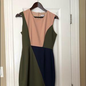 Hunter Bell color block midi dress NEVER WORN